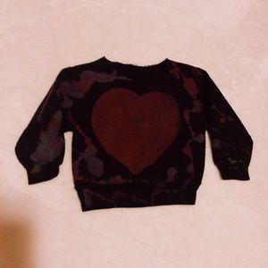 Other - Off The Shoulder Heart Sweatshirt